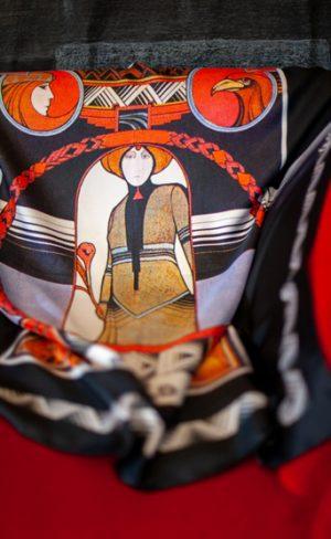 my inner witch | silk tarot scarf the world aquarian tarot deck art deco wearable art